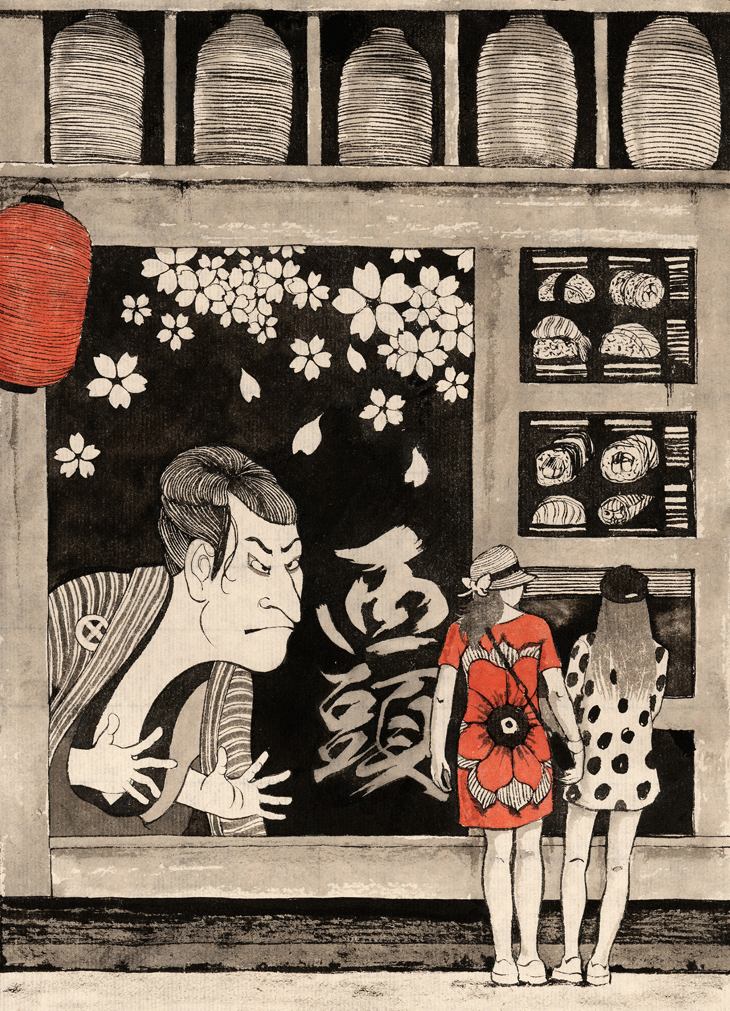 """生活资讯_以色列插画师Sveta Dorosheva""""上海生活""""系列插画 - 视觉同盟 ..."""