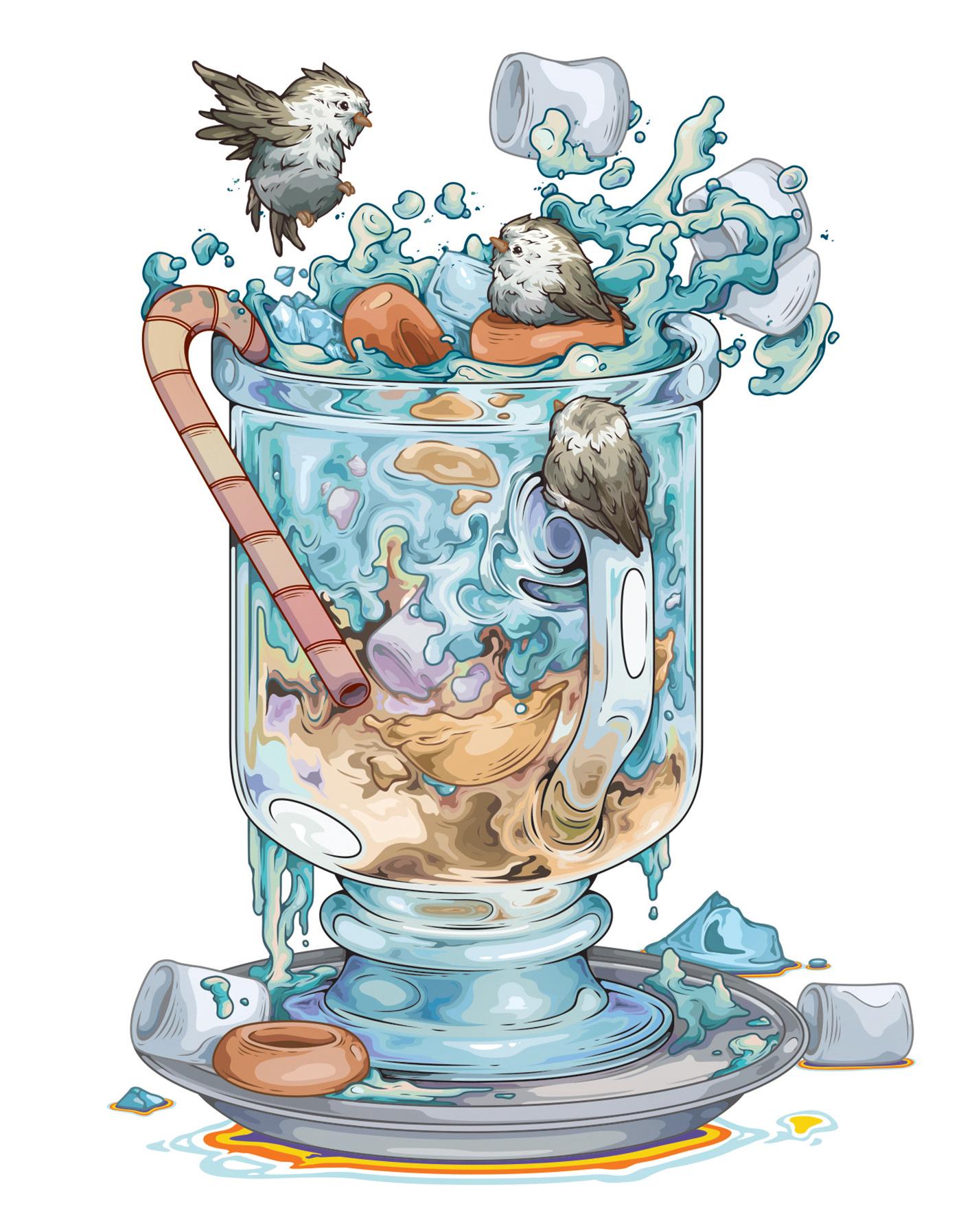 """韩国插画师1000DAY""""Melo微风"""