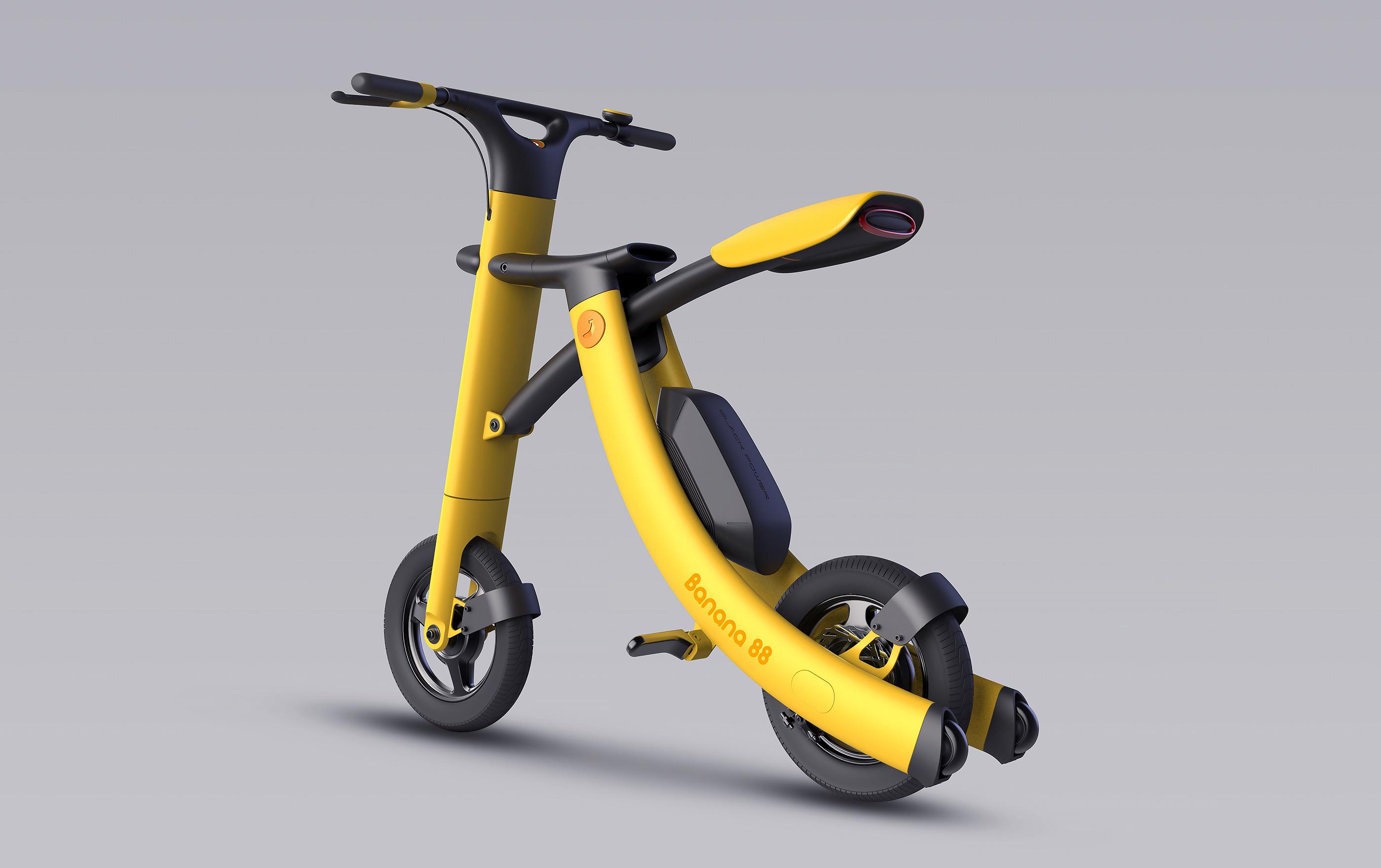 国际资讯_电动折叠滑板车Banana 88 - 视觉同盟(VisionUnion.com)