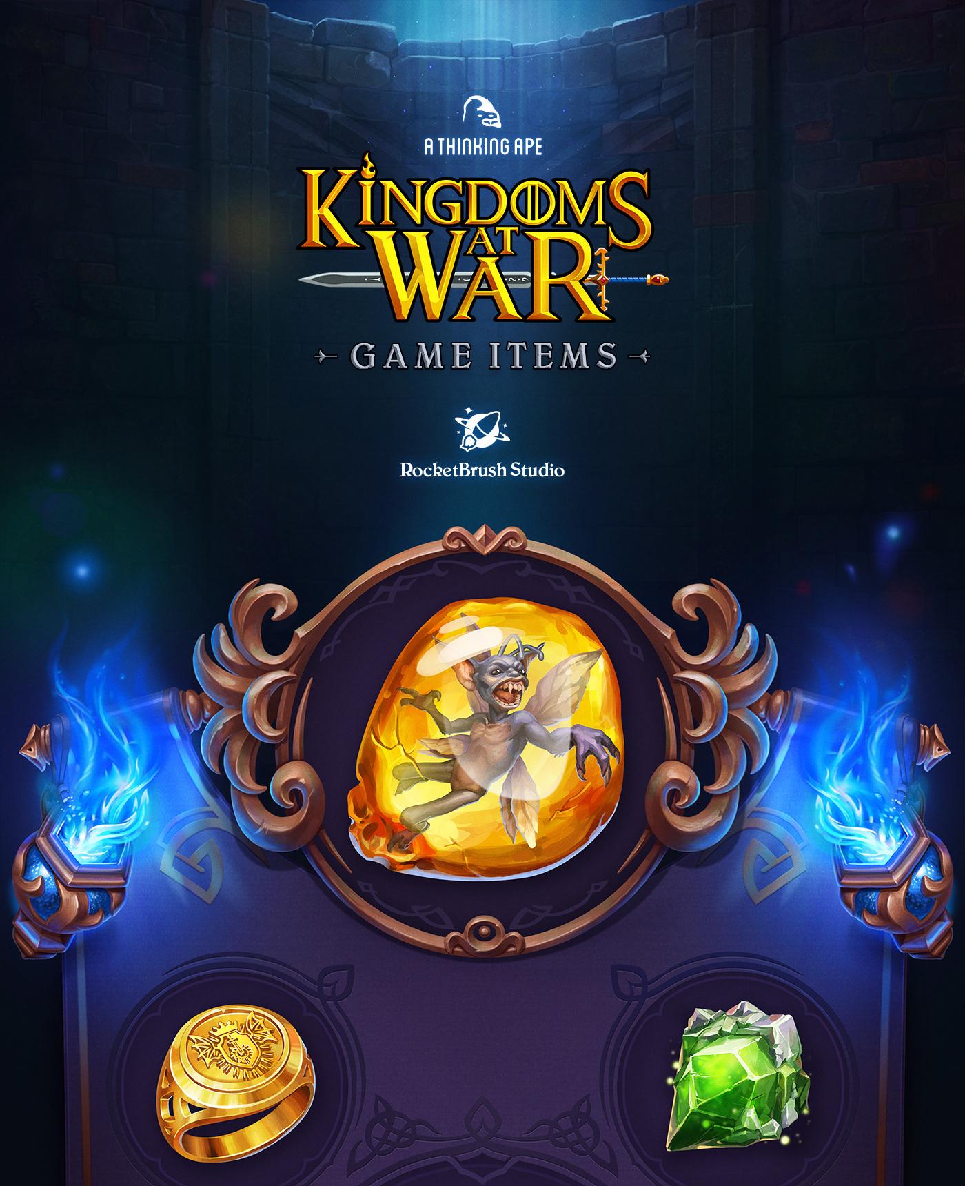 《战争中的王国》游戏物品UI设计