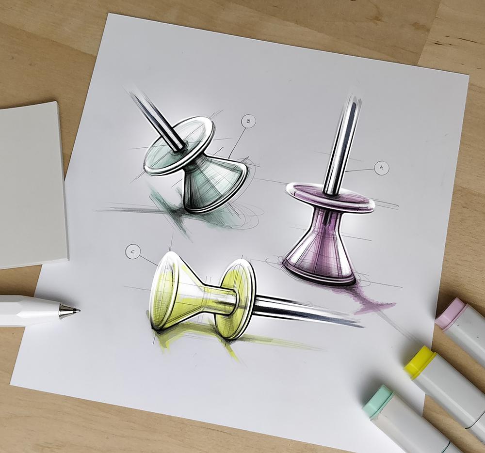 德国设计师Marius Kindler设计草图
