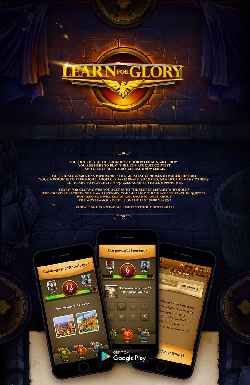 《Learn for Glory》游戏设计