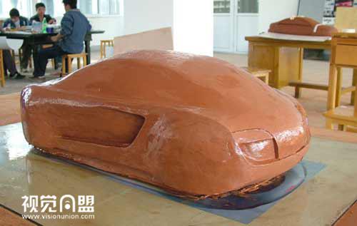 奥迪概念车油泥模型制作过程
