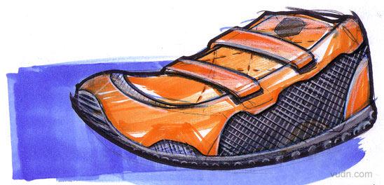 国外运动鞋草图设计欣赏(2)