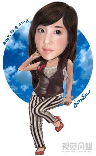 韩国speedsong3明星人物插画作品