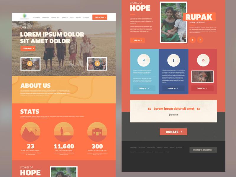 公益慈善机构宣传网站界面设计