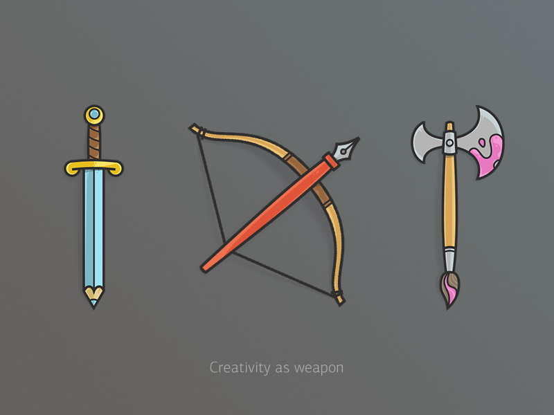 矢量创意武器icon设计